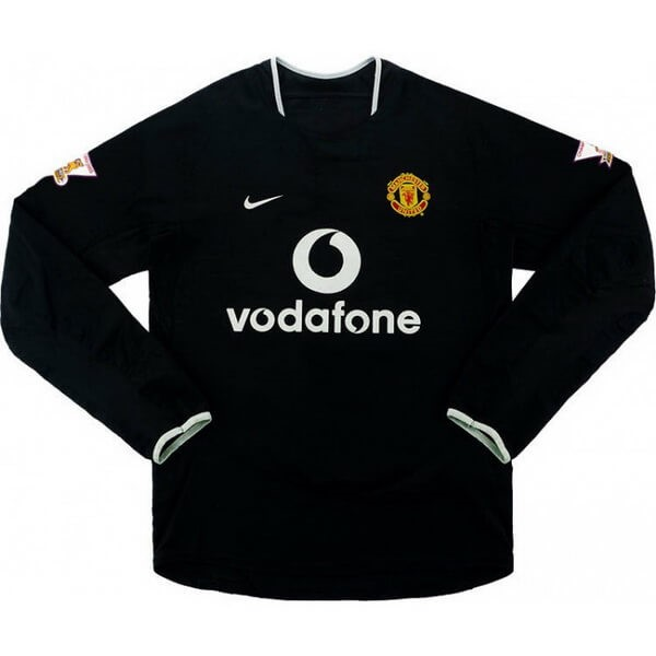 Maillot Foot Manchester United 2ª ML Retro 2003 2005 Noir